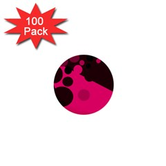 Pink dots 1  Mini Buttons (100 pack)