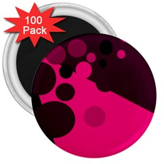 Pink dots 3  Magnets (100 pack)