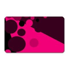Pink dots Magnet (Rectangular)