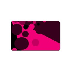 Pink dots Magnet (Name Card)