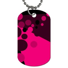 Pink dots Dog Tag (One Side)