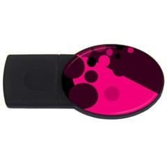 Pink dots USB Flash Drive Oval (1 GB)