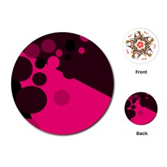 Pink dots Playing Cards (Round)