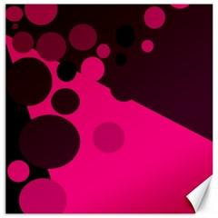 Pink dots Canvas 16  x 16
