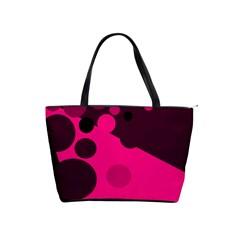 Pink dots Shoulder Handbags