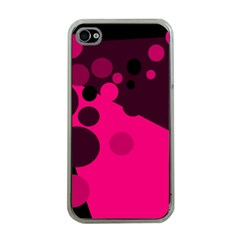 Pink dots Apple iPhone 4 Case (Clear)