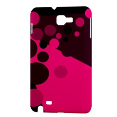 Pink dots Samsung Galaxy Note 1 Hardshell Case