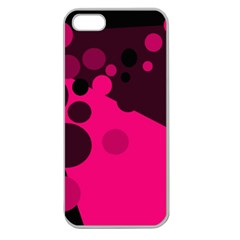 Pink dots Apple Seamless iPhone 5 Case (Clear)