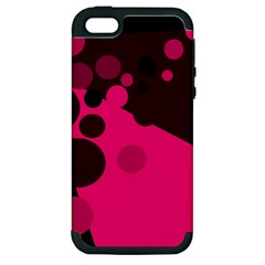 Pink dots Apple iPhone 5 Hardshell Case (PC+Silicone)