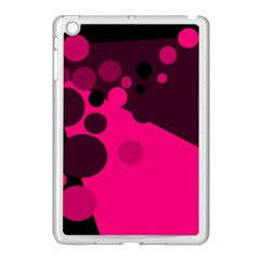 Pink dots Apple iPad Mini Case (White)