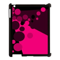 Pink dots Apple iPad 3/4 Case (Black)