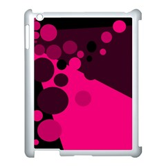 Pink dots Apple iPad 3/4 Case (White)