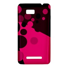 Pink dots HTC One SU T528W Hardshell Case