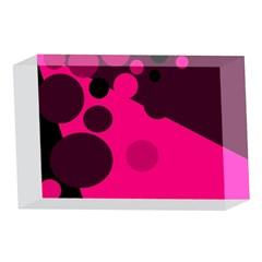 Pink dots 4 x 6  Acrylic Photo Blocks