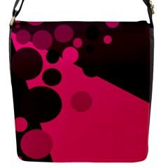Pink dots Flap Messenger Bag (S)