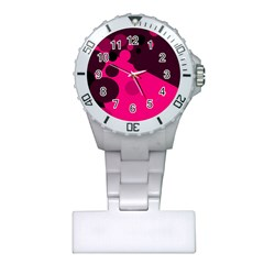 Pink dots Plastic Nurses Watch
