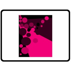 Pink dots Double Sided Fleece Blanket (Large)