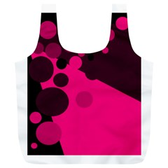 Pink dots Full Print Recycle Bags (L)