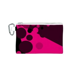 Pink dots Canvas Cosmetic Bag (S)