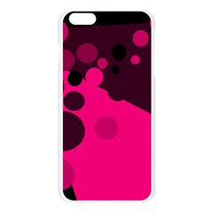 Pink dots Apple Seamless iPhone 6 Plus/6S Plus Case (Transparent)