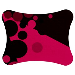 Pink Dots Jigsaw Puzzle Photo Stand (bow)
