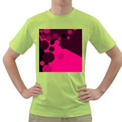 Pink dots Green T-Shirt