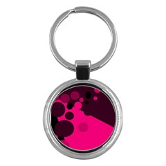 Pink dots Key Chains (Round)