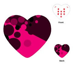 Pink dots Playing Cards (Heart)