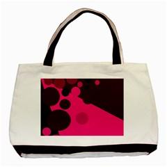Pink dots Basic Tote Bag