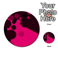 Pink dots Multi-purpose Cards (Round)