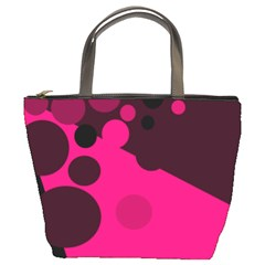 Pink dots Bucket Bags