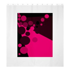Pink dots Shower Curtain 66  x 72  (Large)