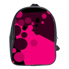 Pink dots School Bags(Large)