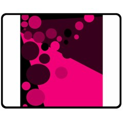 Pink dots Fleece Blanket (Medium)
