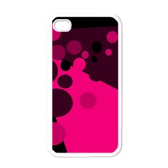 Pink dots Apple iPhone 4 Case (White)