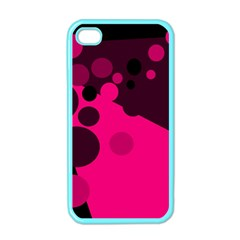 Pink dots Apple iPhone 4 Case (Color)