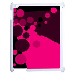 Pink dots Apple iPad 2 Case (White)