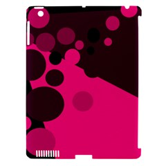 Pink dots Apple iPad 3/4 Hardshell Case (Compatible with Smart Cover)