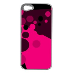 Pink dots Apple iPhone 5 Case (Silver)