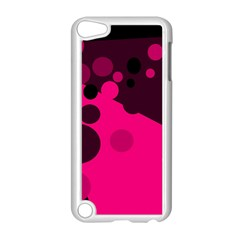 Pink dots Apple iPod Touch 5 Case (White)