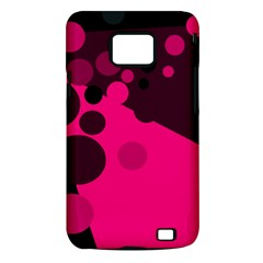 Pink dots Samsung Galaxy S II i9100 Hardshell Case (PC+Silicone)