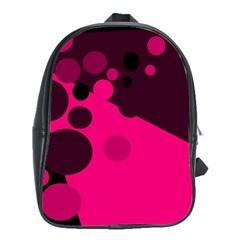 Pink dots School Bags (XL)