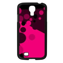 Pink dots Samsung Galaxy S4 I9500/ I9505 Case (Black)