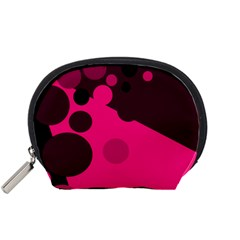 Pink dots Accessory Pouches (Small)