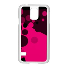 Pink dots Samsung Galaxy S5 Case (White)