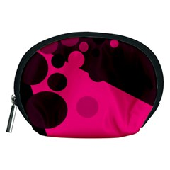 Pink dots Accessory Pouches (Medium)