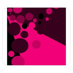Pink dots Double Sided Flano Blanket (Small)
