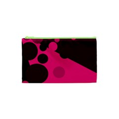 Pink dots Cosmetic Bag (XS)