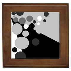 Gray decorative dots Framed Tiles