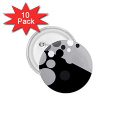 Gray decorative dots 1.75  Buttons (10 pack)